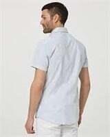 LE CHATEAU Abstract Print Short Sleeve Shirt- L