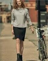 REITMANS Pencil Skirt with Decorative Buttons-L