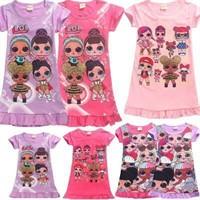 Girls Lol Surprise Doll Game Nightdress-150CM