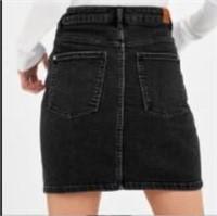 Zara Black Denim Skirt- XS