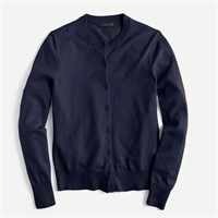 J CREW Cotton-blend Jackie cardigan sweater- XS