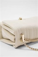 Zara Quilted Mini Polyurethane Cross Body Bag