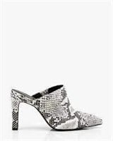 LE CHATEAU Snake Embossed Pointy Toe Mule- 37