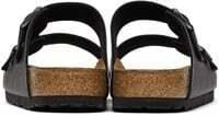 BIRKENSTOCK Black Birko-Flor Arizona Sandals- US 8