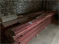 """Lot of Barn Siding - 7"""" to 9"""" approx 14' long"""