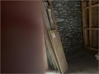(2) stacks of old hardwood barn lumber