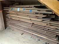 Lot of Mahogany Rough Cut Lumber