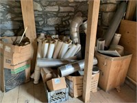 Lot of Pipe Insullation & tin pipe