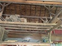 Lot of Early barn lumber in loft