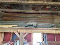 Lot of Tongue & Groove flooring pieces in loft