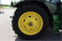 2015 JOHN DEERE 6145R MFWD TRACTOR - 1496 HRS