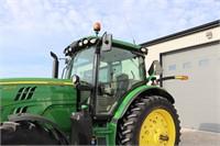 2016 JOHN DEERE 6145R MFWD TRACTOR - 2473 HOURS