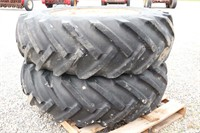 PAIR OF GOODYEAR 16.9 14-30 TIRES AND RIMS