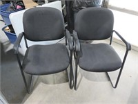 (2) KP Black Guest Chairs