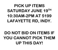 HURRY! 24 HOUR ONLINE AUCTION 6/17 - 6/18 (BLUE)
