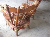 Pair of matching wood framed occassional chairs