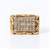 Jewelry 10kt Yellow Gold Diamond Cocktail Ring