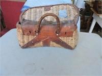Antique Wicker Bait Box