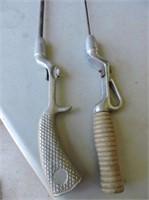 Pair Antique Steel Rods