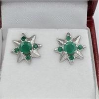 Emerald Star Earrings-New