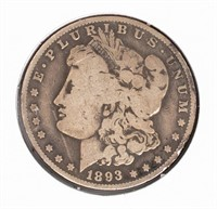 Coin 1893-O Morgan Silver Dollar - Rare!