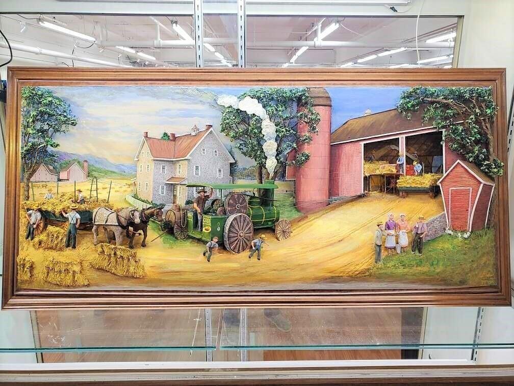 Abner Zook Grain Harvest 3D Painting
