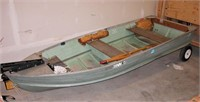 "Starcraft 12' Aluminum Boat 57"" Wide back Wheels"