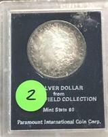1879-S Morgan Redfield Collection CH BU