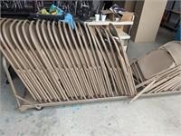 Folding Chairs w/ storage cart