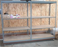 Metal Shelves set of 2 with wheel Frame Rack