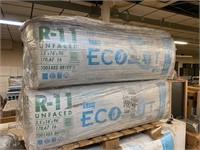 LOT OF 10 BAGS OF R-11 ECOBATT INSULATION