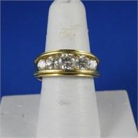 5 Diamonds Gold Ring