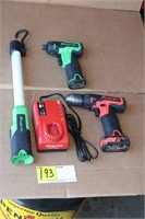 (4) Snap On Drills Light Charge