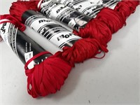x8 William Unger & Co. Morea Red Ribbon Yarn