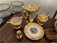 Crest-O-Gold Warranted 22k pitcher, cream &