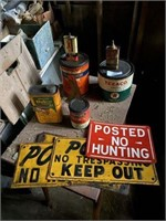 Vintage Signs & Cans