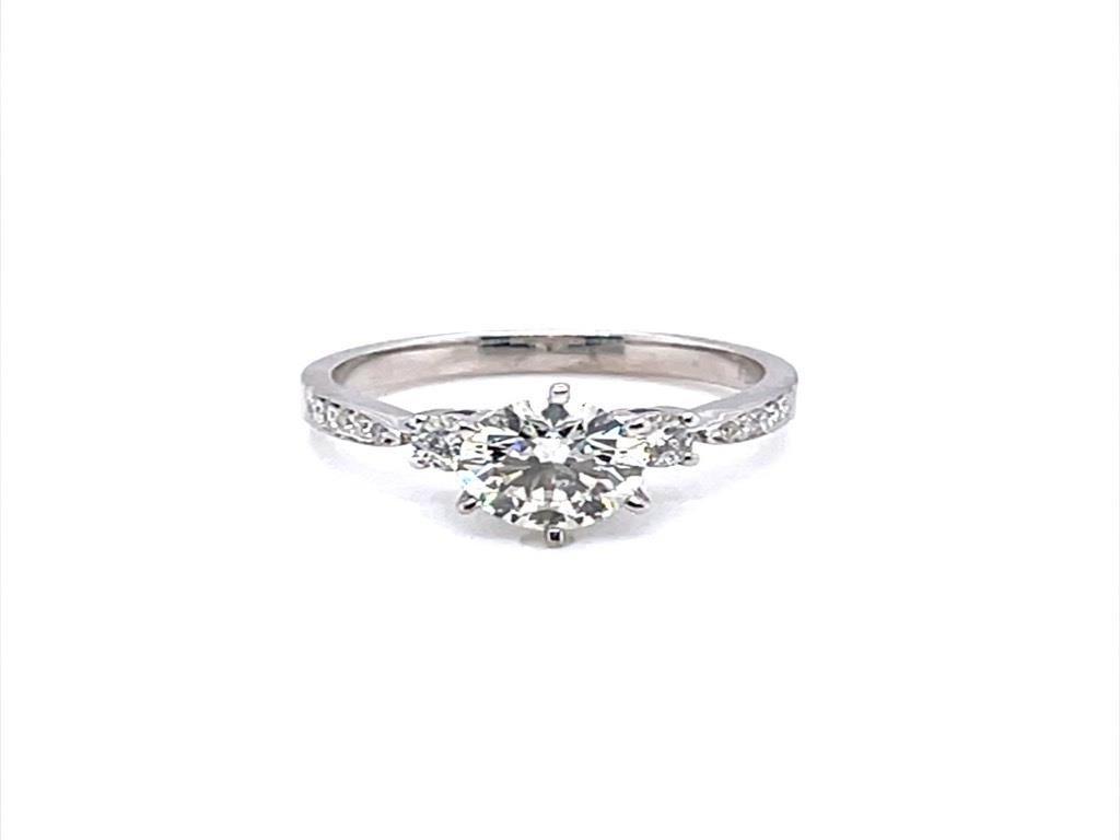 Retail $16200 New 18Kt WG Diamond Ring