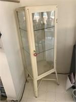 Metal Dental Style Curio/Collector's Cabinet