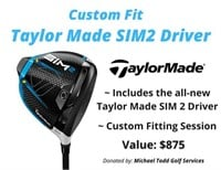 SIM2 TaylorMade driver and fitting