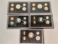 (5) US Mint Silver Proof Sets - 1992 & (4) 1993