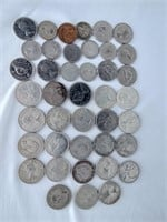 Canadian Coins + 20 Silver Quarters
