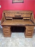 Antique Roll Top Desk by Gunn Desk Co.