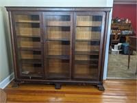 Antique Three Door Display Cabinet