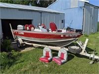Lund 16 Explorer  Boat, motor, trailer