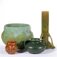 Selection of American art pottery