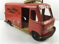 Camion métallique ancien Fire Rescue Squad