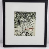 Lithographie du Catalogue Riopelle au musée du Qc