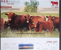 Montana Red Angus 2022 Calendar Ad Auction