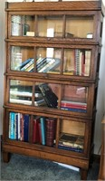 Antique 4 Tier Barrister Stack Bookcase,