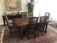 Dining Table & Oriental Rug
